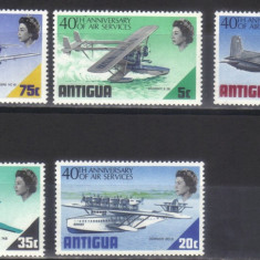 ANTIGUA 1970, Aviatie, serie neuzata, MNH - Timbre straine, Nestampilat