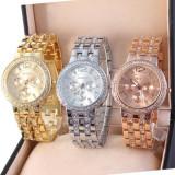 Ceas Casual Luxury GENEVA Lady Crystal Model 2016 Auriu Argintiu Roz|GARANTIE - Ceas dama Geneva, Lux - elegant, Quartz, Inox, Analog