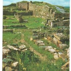 @carte postala(ilustrata) -CONSTANTA -Ruinele cetatii Histria - Carte Postala Dobrogea dupa 1918, Necirculata, Printata