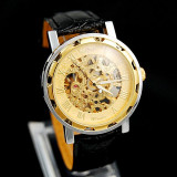 Ceas Barbati Winner Imperial Mecanic Exclusive Edition GOLD, Black 6 Culori, Fashion, Mecanic-Automatic, Inox