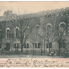 Romania, Temesvar, Timisoara carte post. circulata 1900: Arsenalul KuK - Carte Postala Banat pana la 1904, Fotografie