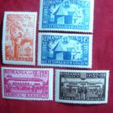 Serie Caminul Cultural Radaseni 1944 Romania, 5 val.sarniera - Timbre Romania, Nestampilat