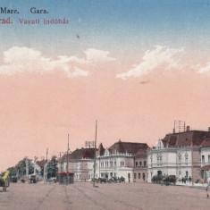 ORADEA, ORADEA - MARE, GARA, CIRCULATA SEP. 1923 - Carte Postala Crisana dupa 1918, Printata
