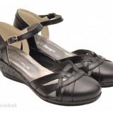Pantofi dama piele naturala negri cu bareta cod P36 - Made in Romania - Pantof dama, Culoare: Negru, Marime: 37, 38, 39, 40