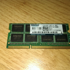 Placuta memorie laptop 2 GB DDR3 Kingmax 1066 Mhz - Memorie RAM laptop