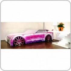 Pat Copii Masina Audi Venezia - Pat tematic pentru copii Altele, Altele, Alte dimensiuni, Roz