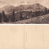Muntii Bucegi (Brasov) - carte postala dubla, rara