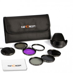 Kent Faith - Kit filtre 52mm UV CPL FLD ND2 ND4 ND8 - Filtru foto Kent Faith, 50-60 mm, Altul