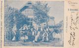 HUEDIN , SALUTARI DIN HUEDIN , CLASICA ,  CIRCULATA SEP. 1901, Printata