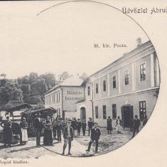 ABRUD, SALUTARI DIN ABRUD, PALATUL DE JUSTITIE, POSTA, PIATA, CLASICA - Carte Postala Transilvania pana la 1904, Necirculata, Printata