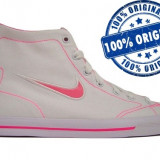 Adidasi dama Nike Capri Mid - adidasi originali - tenisi panza - Ghete dama Nike, Culoare: Alb, Marime: 38, Textil