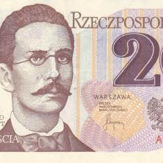 Bancnota Polonia 20 Zloti 1982 - P149a UNC