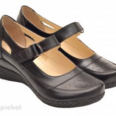 Pantofi dama piele naturala negri cu platforma cod P15 - Made in Romania