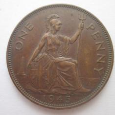 Marea Britanie(Anglia) 1 penny 1945, Europa, Bronz