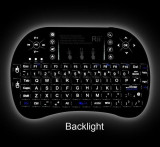 Tastatura wireless ILUMINATA Reincarcabila pt. TV Android SMART TV box media, USB, Fara fir