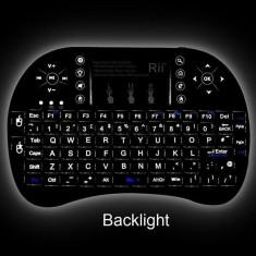 Tastatura wireless ILUMINATA Reincarcabila pt. TV Android SMART TV box media
