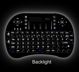 Tastatura wireless ILUMINATA Reincarcabila pt. TV Android SMART TV box media