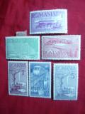 Serie Ceferiada -70 Ani CFR 1939 Romania ,6 val.sarniera, Nestampilat