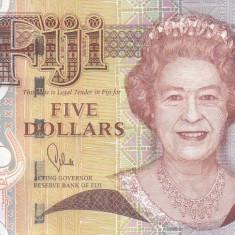 Bancnota Fiji 5 Dolari (2011) - P110b UNC