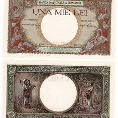SV * Romania 1000 LEI 1939 Regele Carol II AUNC+ / UNC - Bancnota romaneasca
