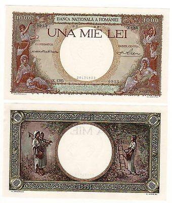 SV * Romania  1000  LEI  1939     Regele Carol II     UNC foto