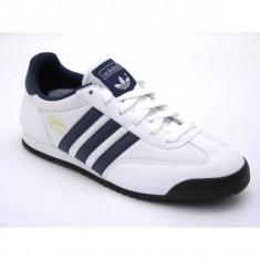 Adidasi originali ADIDAS DRAGON J - Adidasi copii, Marime: 37 1/3, Culoare: Alb, Unisex, Piele naturala