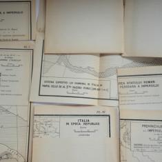 Lot 10 harti pedagogie - istorie Imperiul Roman si Italia