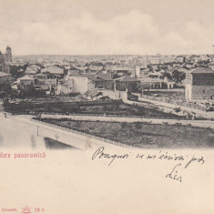IASI, VEDERE PANORAMICA, CLASICA, CIRCULATA MAI 1904 - Carte Postala Moldova pana la 1904, Printata