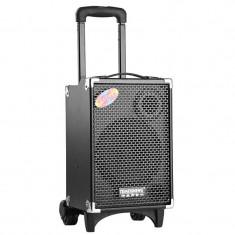 SISTEM KARAOKE BOXA ACTIVA, ACUMULATOR, MP3 PLAYER USB, CARD, MICROFON . - Echipament karaoke