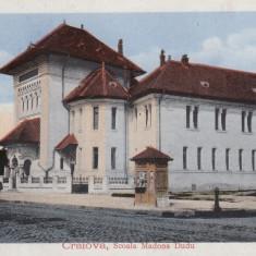 CRAIOVA, SCOALA MADONA DUDU, CIRCULATA IANUARIE 1917 - Carte Postala Oltenia 1904-1918, Printata