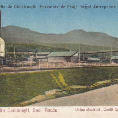 SALUTARI DIN COMANESTI JUD. BACAU, UZINA ELECTRICA ''CREDIT CARBONIFER'' - Carte Postala Moldova dupa 1918, Necirculata, Printata