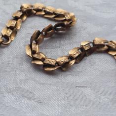 Lant Ceas de buzunar placat cu aur executat manual Vechi marcat Colectie - Ceas de buzunar vechi