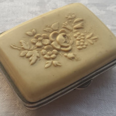 Cutie Portmoneu de Epoca art nouveau Franta 1900 executata manual Vintage