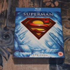 Film - Superman Motion Picture Anthology [8 Discs Blu-Ray], Release UK Original - Film Colectie warner bros. pictures, Engleza