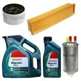 PACHET REVIZIE Logan / MCV /PICK-UP / Sandero 1.5 DCI FILTRE + ULEI CASTROL - Kit distributie, Dacia