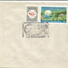 (No2) plic omagial- ZIUA MARCII POSTALE ROMANESTII 1989, An: 1969