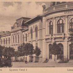 CRAIOVA, LICEUL CAROL I - Carte Postala Oltenia dupa 1918, Necirculata, Printata
