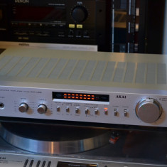 Amplificator AKAI AM U22 silver --perfect-- - Amplificator audio