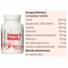 Energy and Memory (90 capsule) Calivita - Supliment nutritiv