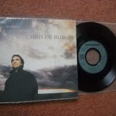 CHRIS DE BURGH: The Waiting Heart(1989) (vinil pop rock single cu 2 piese) - Muzica Pop Altele
