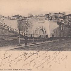 IASI, RAPA GALBENA, CLASICA, CIRCULATA SEP. 1906 - Carte Postala Moldova dupa 1918, Printata