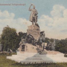 CRAIOVA, MONUMENTUL INDEPENDENTEI, CIRCULATA MAI 1915 - Carte Postala Oltenia 1904-1918, Printata