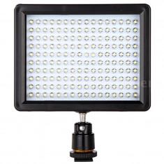 Lampa foto-video cu 160 LEDuri 12W lumina 1280 lumeni reflector Canon Nikon DSLR - Lumini Studio foto Xpro
