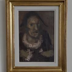 EUGEN RAPORTORU ULEI PE CARTON 20 CM x 30 CM SEMNAT SPATE 1980 DLUI D DARIAN - Pictor roman, Portrete, Realism