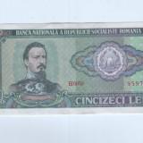 Bancnota Romania 50 lei 1966-aunc - Bancnota romaneasca