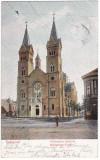 #1809- Romania, Temesvar, Timisoara, c.p. circulata 1904: Biserica Millenium, Fotografie