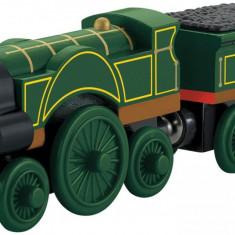 Locomotiva Emily si vagonul sau, colectia Thomas si prietenii sai - Trenulet Fisher Price, 2-4 ani, Lemn, Unisex