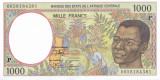 Bancnota Statele Africii Centrale ( Chad ) 1.000 Franci 2000 - P602Pg UNC