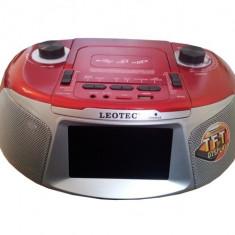 Player audio cu display TFT si FM, USB, TF, TV Leotec