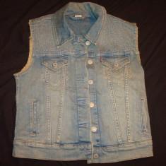 Vesta dama Jeans/blugi LEVI'S culoare bleumarin, denim, Marime: M, Culoare: Din imagine, Bumbac